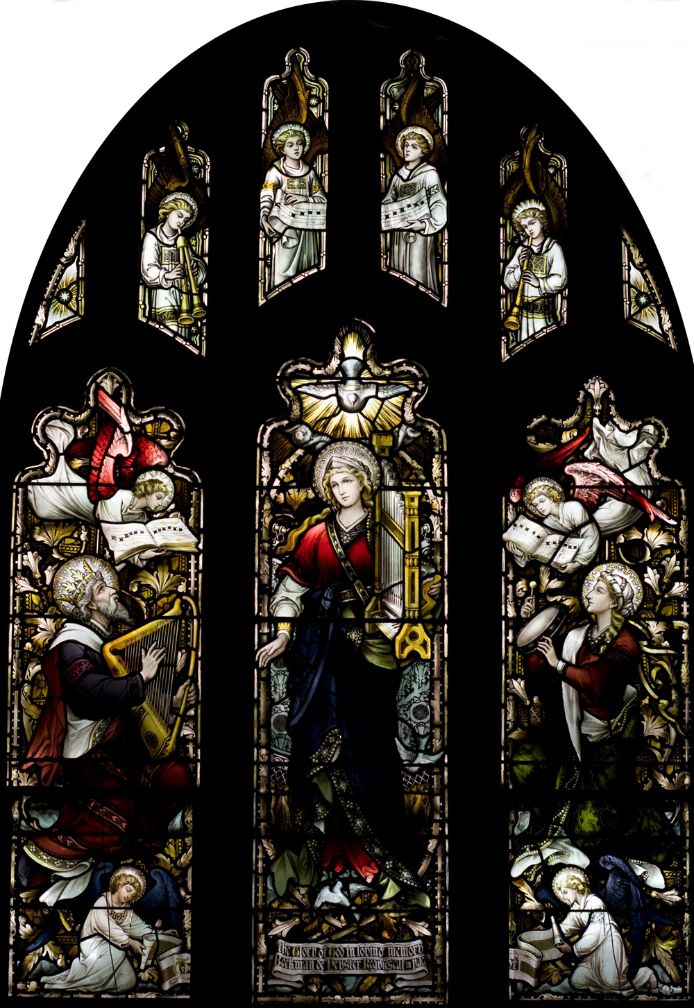 Hi Resolution St Cecilia Window